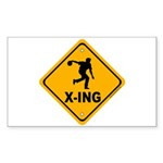 Bowl X-ing Rectangle Sticker 10 pk)