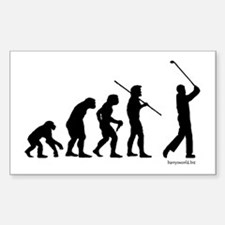 Golf Evolution Rectangle Sticker 10 pk)