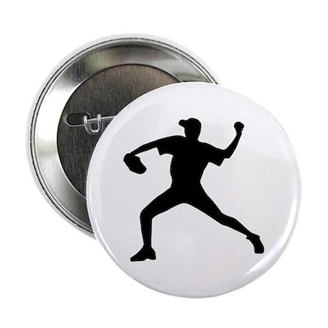 """Baseball - Pitcher 2.25"""" Button"""
