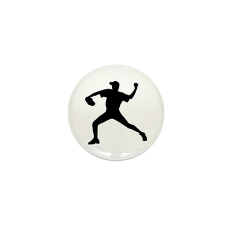 Baseball - Pitcher Mini Button (100 pack)
