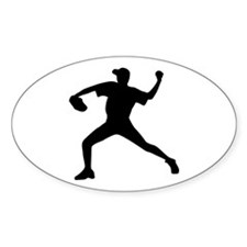 Baseball - Pitcher Oval Decal