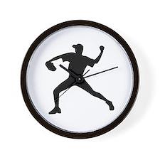Baseball - Pitcher Wall Clock