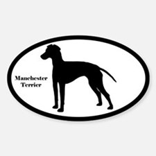 Manchester Terrier Silhouette Oval Decal