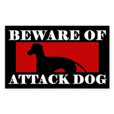 Beware of Attack Dog Manchester Terrier Decal