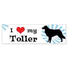 I Love My Toller Bumper Bumper Sticker