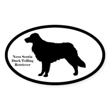 Nova Scotia Duck Tolling Silhouette Oval Sticker
