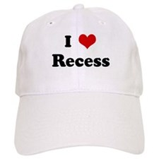 I Love Recess Baseball Cap