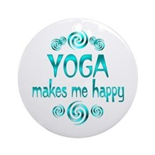 Yoga Happiness Ornament (Round)
