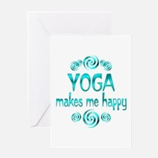 Yoga Happiness Greeting Card
