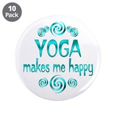 """Yoga Happiness 3.5"""" Button (10 pack)"""