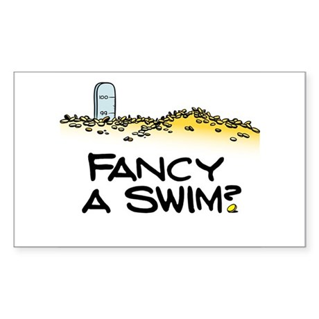 Fancy a Swim? Rectangle Sticker