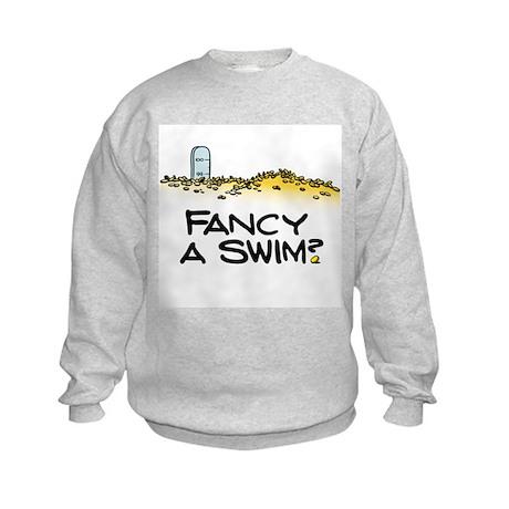 Fancy a Swim? Kids Sweatshirt