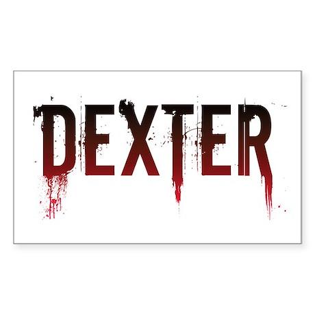 Dexter [text] Rectangle Sticker