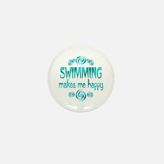 Swimming Mini Button