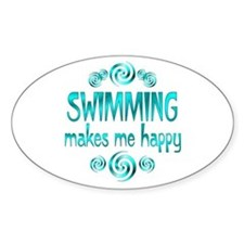 Swimming Oval Decal
