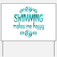Swimming Yard Sign