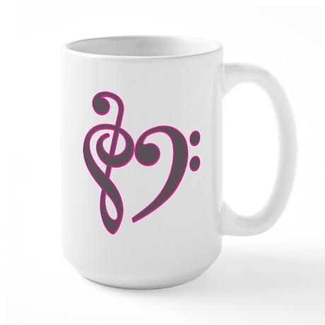 Music Heart Large Mug