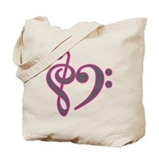 Music Heart Tote Bag