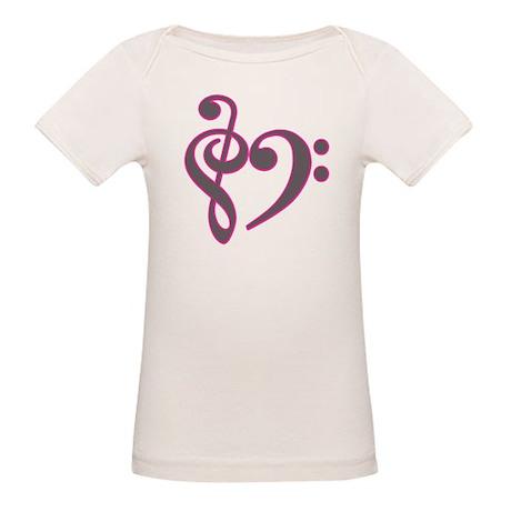 Music Heart Organic Baby T-Shirt