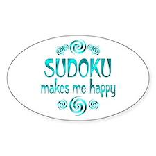 Sudoku Oval Sticker (10 pk)