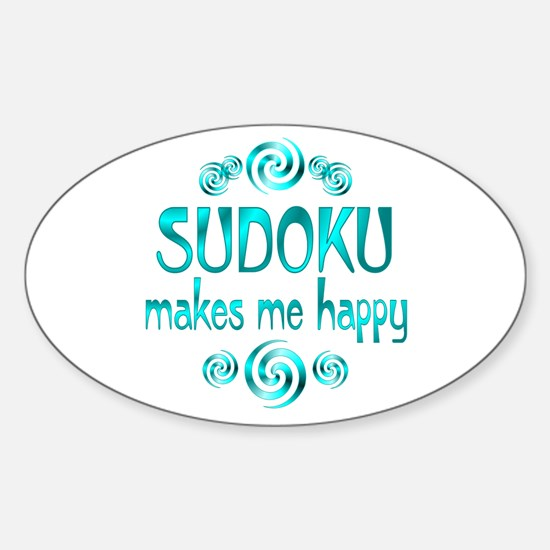 Sudoku Oval Decal