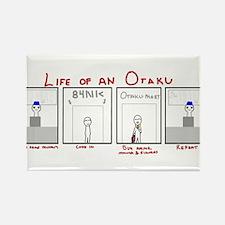 Life of an Otaku Rectangle Magnet