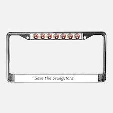 Orangutan Wildlife License Plate Frame
