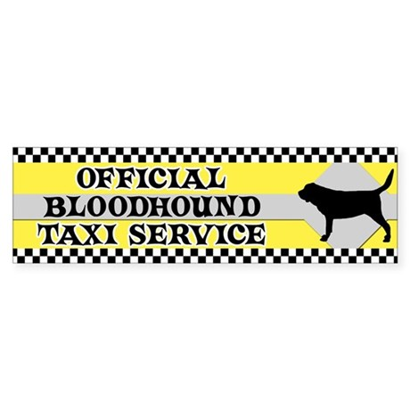 Official Bloodhound Taxi Bumper Sticker