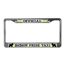 Official Bichon Frise Taxi License Plate Frame