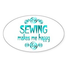 Sewing Oval Stickers