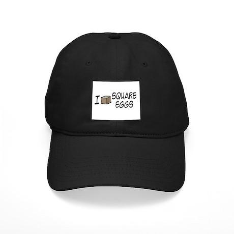 I Love Square Eggs Black Cap