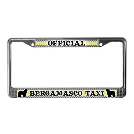 Official Bergamasco Taxi License Plate Frame