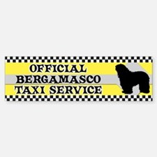 Official Bergamasco Taxi Bumper Bumper Bumper Sticker