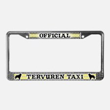 Official Tervuren Taxi License Plate Frame