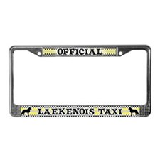 Official Laekenois Taxi License Plate Frame