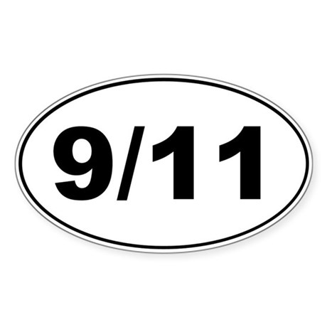 September 11 Oval Sticker