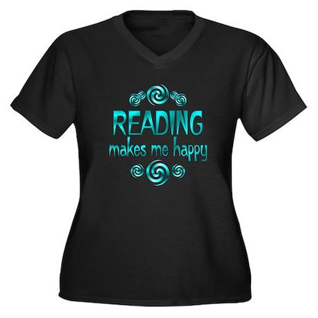 Reading Women's Plus Size V-Neck Dark T-Shirt