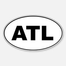 ATL Oval Decal