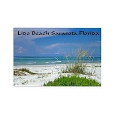 Lido Beach, Sarasota, Florida Rectangle Magnet