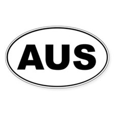 AUS Oval Stickers