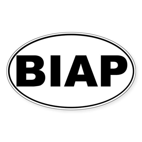 BIAP Oval Sticker