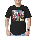 PEACE Signs Men's Fitted T-Shirt (dark)