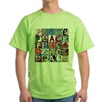 PEACE Signs Green T-Shirt