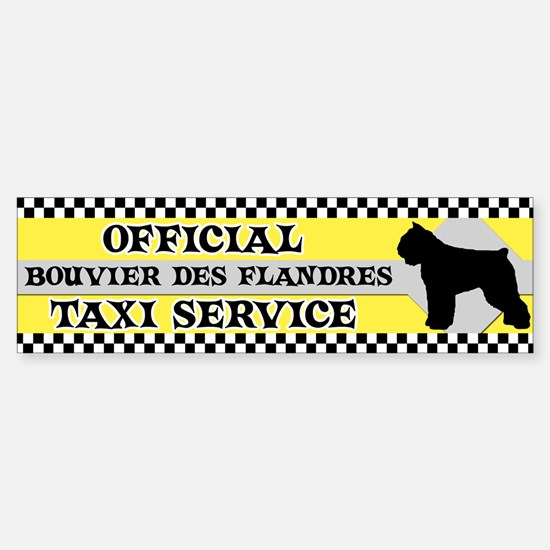 Official Bouvier des Flandres Taxi Bumper Bumper Bumper Sticker
