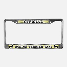 Official Boston Terrier Taxi License Plate Frame