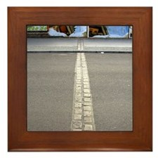Germany Framed Tile: <br> Base of Berlin Wall