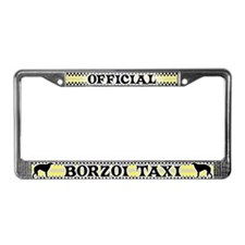Official Borzoi Taxi License Plate Frame