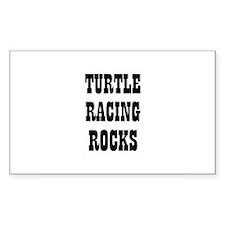 TURTLE RACING ROCKS Rectangle Decal