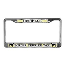 Official Border Terrier Taxi License Plate Frame