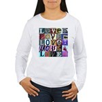 Signs of my Love Women's Long Sleeve T-Shirt